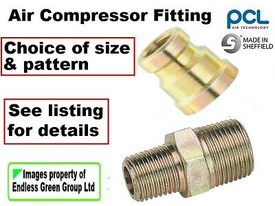 Male Union or Female Reducer  Air Compressor fitting - choice of thread size