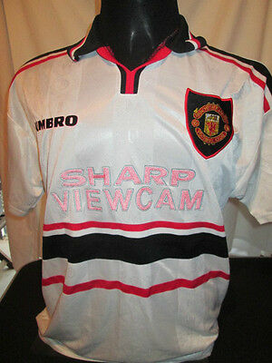 1998-1999 Manchester United Away Sheringham Football Shirt large mans (32180)