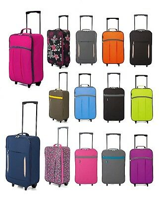 New Wheeled Cabin Hand Luggage Bag Small Case Ladies Girls On Board Travel