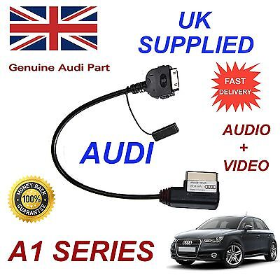 AUDI A1 4F0051510R iPhone 4s iPod Audio Video Cable Red MY 2012 - 2014
