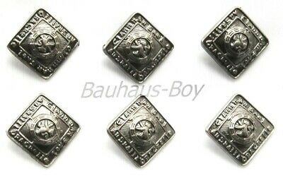 6 Replacement Buttons Prince Charlie Argyll Jackets 14Mm Antique Finish Kiltwear