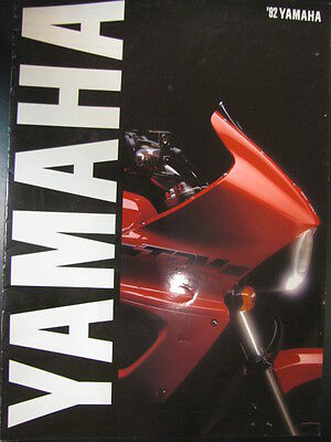 Folder / Brochure Yamaha Totaalprogramma 1992 (Nederlands)