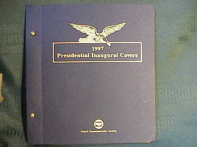 4 Clinton Presidential Inauguration Covers in Postal Commemerative Society Book