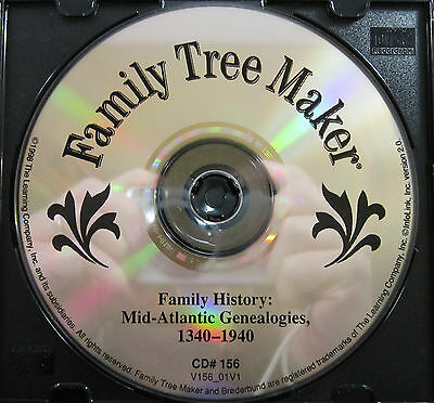 FTM -Local and Family Histories: Mid Atlantic Geneology 1340-1940 CD #156