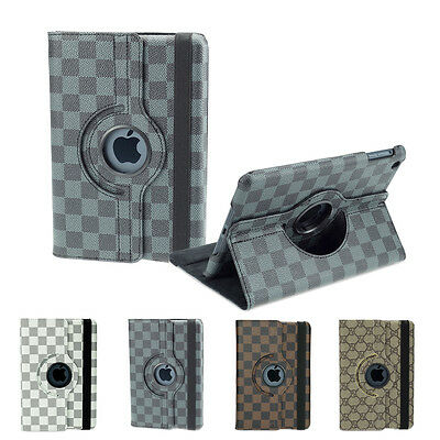 360° Rotating Luxury PU Leather Case Cover Skin for the new iPad 4 3 2