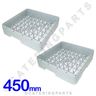 2 X 450 x 450 SQUARE DISH-WASHER GLASS-WASHER 450MM SQUARE PEGGED PLATE RACK IME