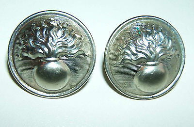 LOT DE 2 BOUTONS ARGENTES GENDARMERIE - 21 mm - Fabrication A.M.&Cie