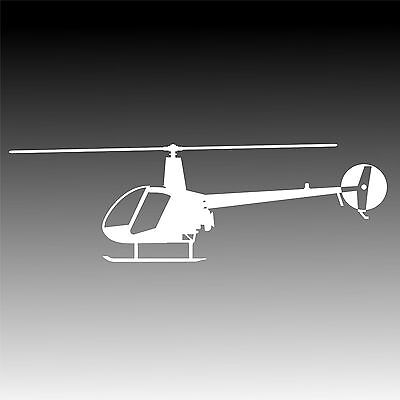 R22 Profile Decal Robinson R- 22 Helicopter Pilot Sticker