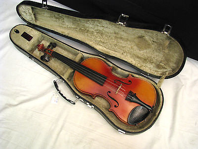 VIOLIN Antonius Stradivarius Copy used made in Germany - w/ Hard Case - 3/4 size