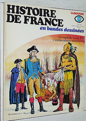 Larousse Histoire France Bandes Dessinees N°14 1977 Eo Louis Xv Independance Usa