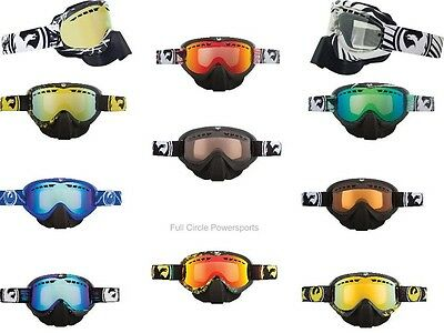 Dragon MDX Snowmobile Goggles Dual Pane Winter Anti-fog Lens & Nose Guard Snow