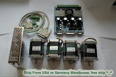 4Axis Nema23 Stepper Motor 270oz-in,57BYGH627 & Driver board CNC mill kit