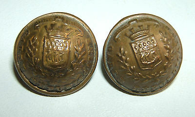 LOT DE 2 BOUTONS GARDE REPUBLICAINE 1914 / 1918 - 17 mm - A.M.&Cie