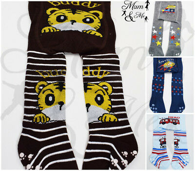 Baby Boys Cotton Tights - Toddler Boys Knitted Winter Anti Slip Leggings Pants