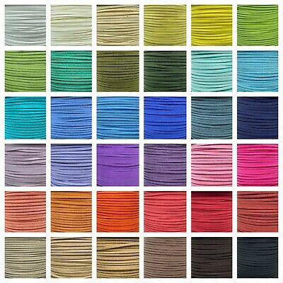 Faux Suede Flat Leather Cord Lace String 23yd per bundle