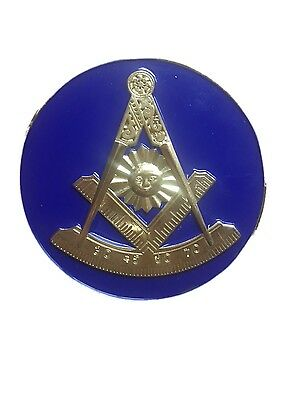 F&AM Past Master Masonic Bumper Sticker With Square