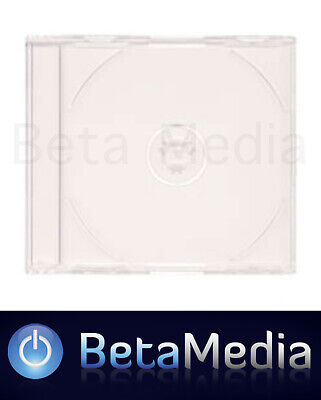 25 x Jewel CD Cases with Clear Tray Single Disc - Standard Size CD case