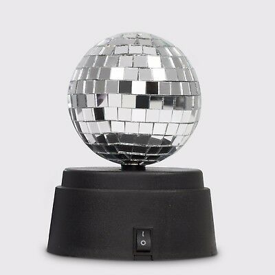 70s Style Novelty Battery Rotating Disco Party DJ Motorised Mirror Glitter Ball