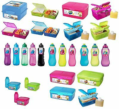 SISTEMA Lunch/Salad Boxes/Cubes/Quaddies/Bottles - Twist 'n' Sip - KLIP IT To Go