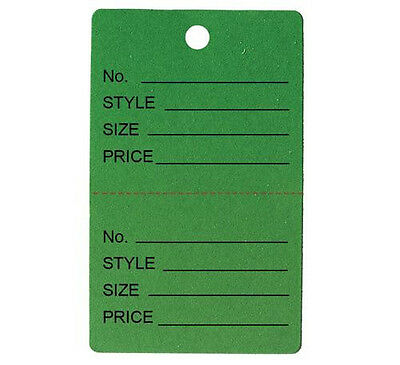 1000 Small Perforated Merchandise Coupon Price Tags Green