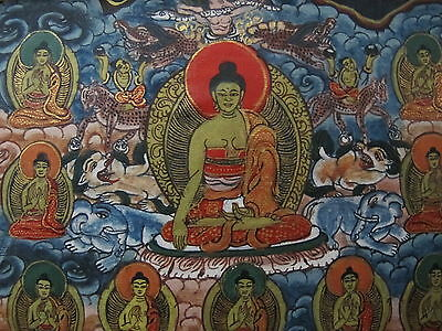 Antique Thangka Mandala Tibet Nepal painting