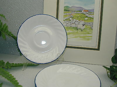 Lot of 4 Corelle Corning Ware BLUE VELVET Coffee Cup Saucers (only)