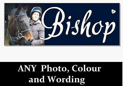 ANY PHOTO COLOUR NAME HORSE PONY Sign Plaque Personalised Stable door tack room