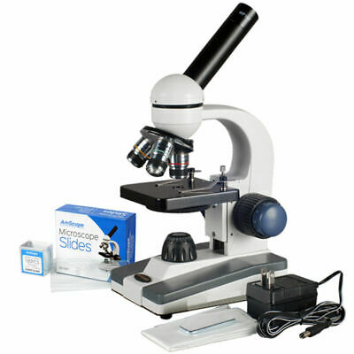 AmScope 40X-1000X All-Metal Optical Lens Compound Microscope Student Homeschool