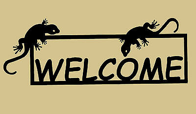 Lizard,Gecko,Gift,Home,Metal Art,Welcome Sign,Cactus,Desert,Southwest decor