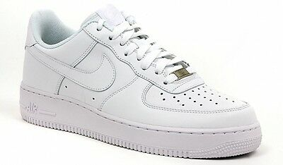 SCARPE NIKE AIR Force One 1 low da uomo pelle Bianche basse
