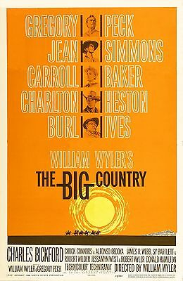 """""""THE BIG COUNTRY"""".Gregory Peck Burl Ives Classic 1958 Movie Poster A1A2A3A4Sizes"""