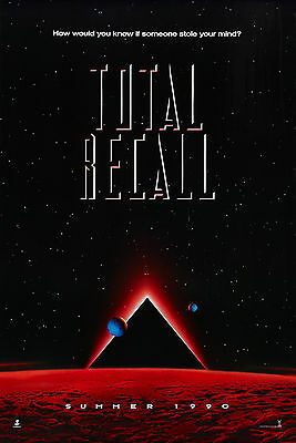 """""""TOTAL RECALL""""..Classic 1990 SciFi Action Movie Promotional Poster A1A2A3A4Sizes"""