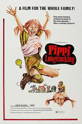"""PIPPI LONGSTOCKING"" ...Classic 1969 Family Movie Poster A1A2A3A4Sizes"