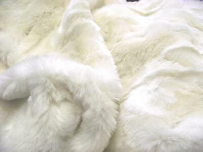 Super Luxury Faux Fur Fabric Material - IVORY CRUSH