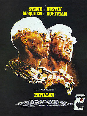 """PAPILLON""...Steve McQueen Dustin Hoffman... Vintage Movie Poster A1A2A3A4Sizes"