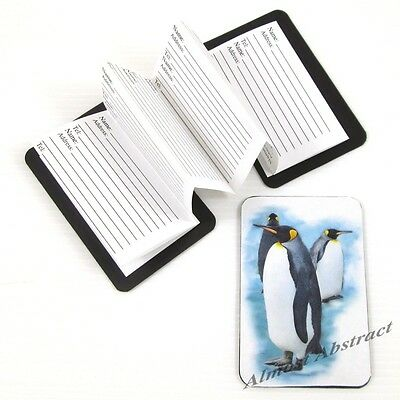 Penguins: Credit Card Sized Magnetic Address Book ~ New