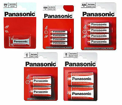 PANASONIC HEAVY DUTY BATTERIES CELL AAA AA C D 9v BATTERY REMOTES TOYS CAMERAS