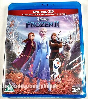 FROZEN 2 (2019) Brand New 3D + 2D Blu-ray Imported Disney Movie ii SHIPS NOW