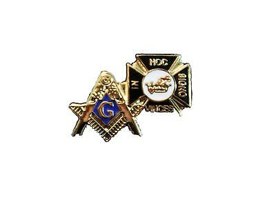Square & Compasses Knights Templar Masonic Lapel Pin