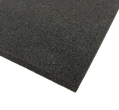 BLACK NEOPRENE PLAIN SPONGE/FOAM RUBBER SHEET VARIOUS  SIZES 1.5mm - 25mm THICK