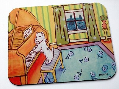 MOUSE PAD mousepad computer westie west highland white terrier piano gift modern