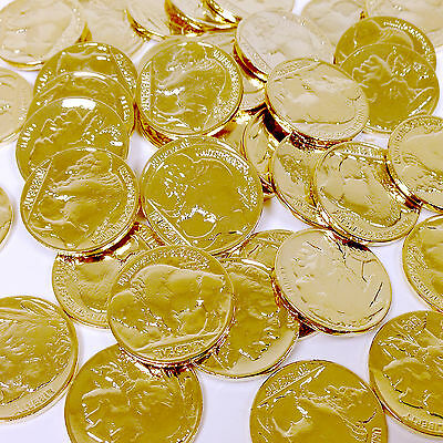 FIVE 24k GOLD PLATED INDIAN HEAD BUFFALO NICKELS