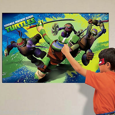 14 Piece Teenage Mutant Ninja Turtles TMNT Place The Mask Party Game
