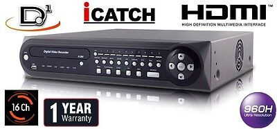 16 Channel Real time Full D1 H.264 1920FPS CCTV Security Network DVR HDMI Audio