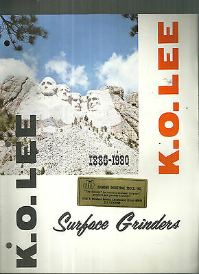 K. O. Lee Surface Grinders 1979 Catalog