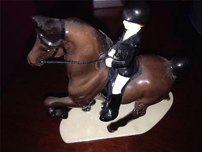 Hagen-Renaker Porcelain Speciality Dressage Horse with RIder