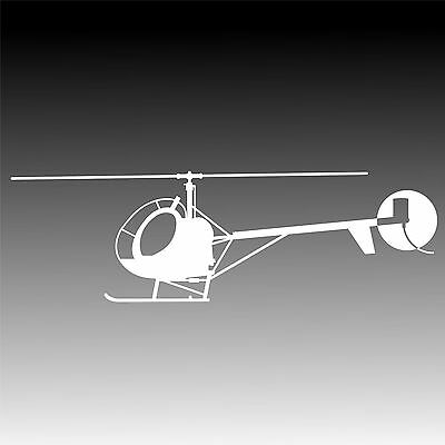 Hughes 300 Helicopter Decal Sikorsky S-300 Sticker Schweizer 300 Aircraft