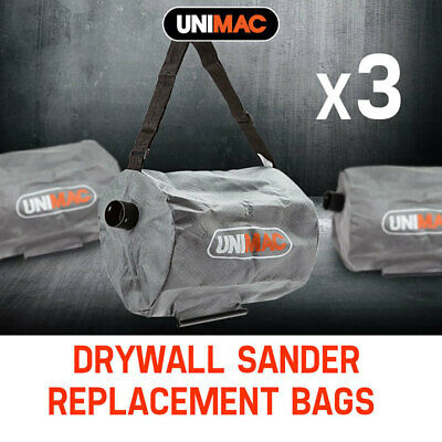 NEW Unimac 3x Drywall Sander Bags Vacuum Cleaner Replacement Wall Plaster Board