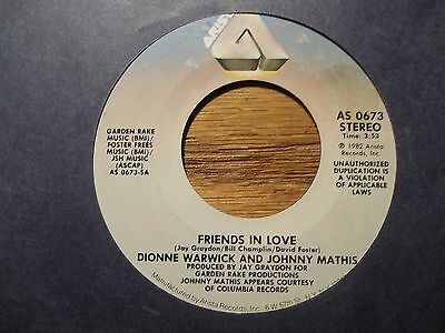 """DIONNE WARWICK & JOHNNY MATHIS """"FRIENDS IN LOVE"""" 45 RPM"""