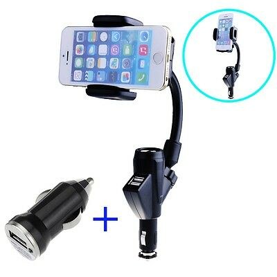 Universal Adjustable Dual PC+ABS Mount holder Stand for iPhone 6 5S 5C 5 4S 4